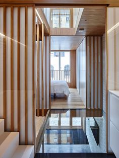 Coffey Architects used traditional Japanese techniques to make the most of space and light in the renovation of this three-metre-wide London mews house