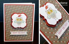 CTMH Seasons Tweetings , Sparkle and Shine paper, Owl stamp, Christmas Hat. So Cute!