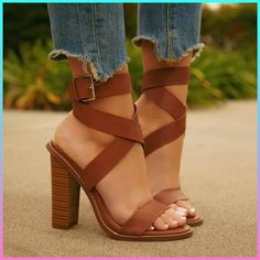 I love these simple brown heels Thoughts? ❤ Bran