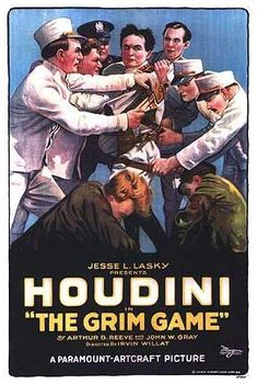 Houdini 1919: The Grim Game Magicians Magic Poster