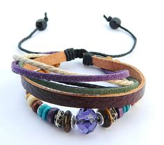 Unisex simple fashion Violet Jewellery leather by goodlucky, $7.99