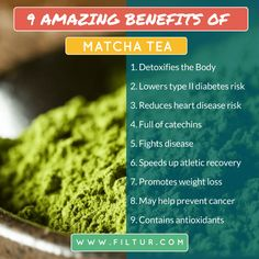 Filtur health, vitamin and supplement image section Matcha Tea Benefits, Diabetes, Vitamins, Weight Loss, Healthy, Amazing, Check, Image, Losing Weight