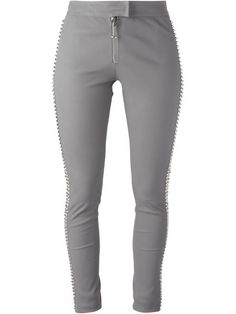 PHILIPP PLEIN 'Sheeba' Leather Trousers. #philippplein #cloth #trousers