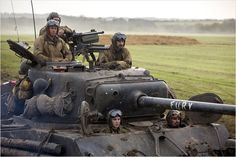 Fury : Photo Brad Pitt, Jon Bernthal, Logan Lerman, Michael Peña, Shia LaBeouf