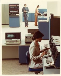 Late 70s or 80's computer center / office
