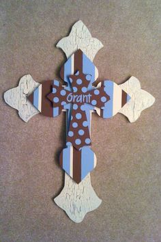 3 layer wooden cross for baby's room