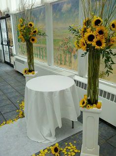 Savannah's Garden: Looking Back at Nicole's Sunflower Wedding at The Flander's Hotel in Ocean City! One Year Later!