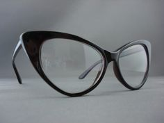 b8c4b657529 Details about Vintage Movie Star Clear Lens Cat Eye Womens Retro Glasses  Brown Tortoise 1377B