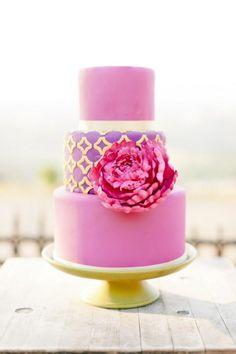 purple wedding cake - Erica Obrien Cake Design