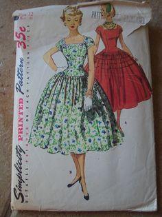 Simplicity 1043 princess dress with drop waist
