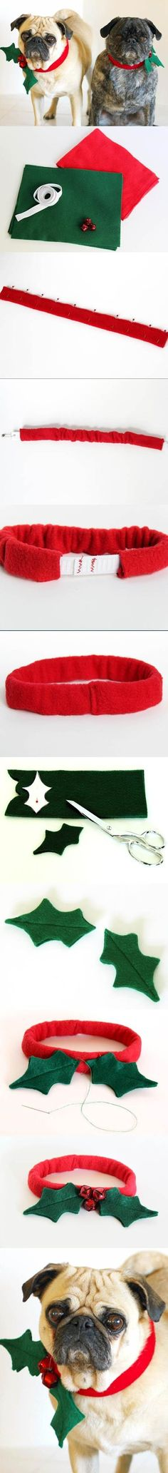 DIY Christmas Dog Collar | LovePetsDIY.com