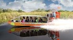 Glide across the River of Grass before a gator show presented by Animal Planet's #GatorBoys at Everglades Holiday Park.