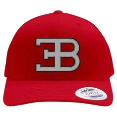 Bugatti Logo Embroidered Retro Embroidered Trucker Hat