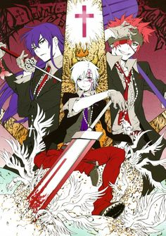 """'Kanda, Allen, & Lavi' - D-Grayman: one of the best anime & manga series""- My all time favorite manga. I have this poster on my wall!;3"