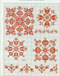Gallery.ru / Фото #22 - 92 -red work biscornu monochrome