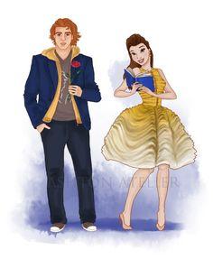 Adam & Belle. Belle's dress based on Dior.