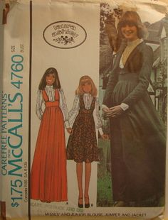 McCalls pattern..(.Laura Ashley inspired) 1970's