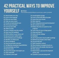 42 Practical Ways To Improve Yourself — Life Learning — Medium