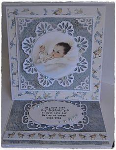 Velkommen inn: Enda et babykort fra meg:) Baby Barn, Baby Shower, Easel Cards, Mini Albums, New Baby Products, Baby Kids, Card Making, Scrap, Frame