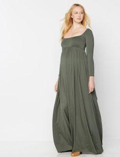 A Pea in the Pod Rachel Pally Long Sleeve Maternity Maxi Dress