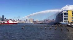 FDNY Fireboat vs. CitiStorage Fire; The Fire Department of New York is battling a 7-alarm fire today at a warehouse in Brooklyn utilizing their fire boat Bravest, Fire Fighter II and an army of 275 firefighters.  The following images via the FDNY were posted on their Twitter feed