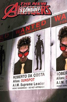 """Nuevos Vengadores 65¡Cruce con """"Punto muerto""""! Los Nuevos Vengadores son una fuerza global de rescate. Ahora, tendrán que rescatar a alguien de SHIELD y eso desencadenará una guerra. Además, sale a la luz la identidad del traidor y descubrimos quién o qué es el Kaiju Americano."""
