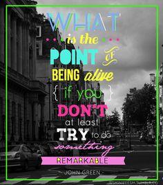 Start living!