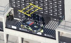 The £1 million car lowered onto the 30th floor of Dollar Bay