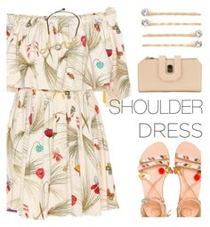 """Spring Trend: Off-Shoulder Dresses"" by rasa-j ❤ liked on Polyvore featuring Fendi, Elina Linardaki, Vieste Rosa, Lanvin, womensFashion and offshoulderdress"