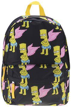 "ROMWE | ""Wings Simpson"" Black Backpack, The Latest Street Fashion http://www.romwe.com/?KissesfromEurope"