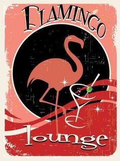 Flamingo Lounge Enameled Steel Sign | eBay