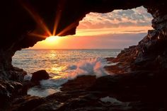 Acadia National Park-   The view from the Sea Anemone Cave. Photo by Michael Rickard
