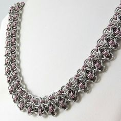 Chainmaille Necklace Rondo a la Byzantine by HCJewelrybyRose