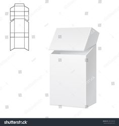 Vector Illustration of Diecut Craft Box for Design, Website, Background, Banner. Fold pack for cigarettes with dieline for your brand on it Box Packaging Templates, Food Box Packaging, Packaging Design, Die Cut Boxes, Box Template Printable, Paper Structure, Cigarette Box, Paper Crafts, Diy Crafts
