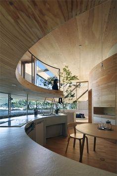 Pit House, Tamano, Okayama, 2011 by UID Architects & Associates #house #japan #wood