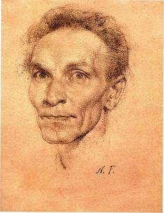 Nicolai Fechin.. self portrait .# drawing
