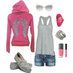 Pink & gray casual