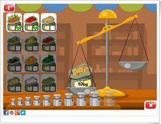"Juegos educativos de Matemáticas online: ""Aprendemos a pesar"" (Grydladzieci.edu.pl)"
