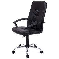 High Back Executive Office PU Leather Task Ergonomic Chair Computer Desk
