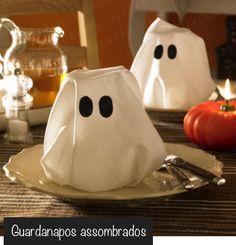 Servilletas fantasma ! ideas#halloween#mesa halloween napkins