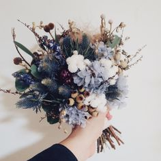 Dried Flowers Bouquet Bridal Shower Table Setup Dusty Blue Wedding The – walnuttal Dried Flowers, Beautiful Flowers, Dried Flower Bouquet, Flower Bouquets, Wedding Colors, Wedding Decor, Country Wedding Flowers, Purple Wedding, Arte Floral