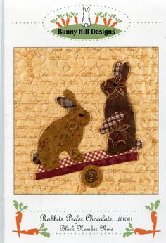 love the background fabric for these bunnies