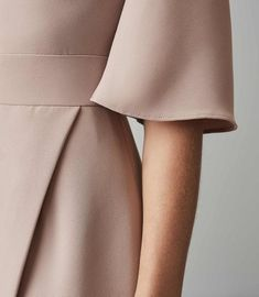 REISS - MYRA TAILORED WRAP FRONT DRESS Reiss Dresses, Wrap Front Dress, Iconic Dresses, Dress Collection, Mini Skirts, Neutral, Fashion, Atelier, Moda
