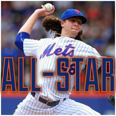 Jacob deGrom. Mets all star pitcher.