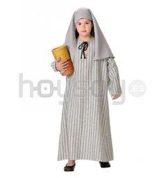 #Disfraz de #samaritana infantil para representaciones en #Navidad o #SemanaSanta. Compuesto por túnica de rayas y pañuelo para la cabeza #Disfraces