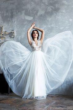 Wedding dress    Купить Молочное свадебное платье в пол в интернет магазине на Ярмарке Мастеров