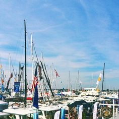 The Newport Boat Show view from #tylerboe window on Bannister's Wharf