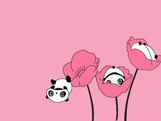 Tare panda on flowers by San-X