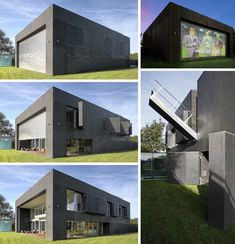 The Safe House by KWK Promes Architects adjusts its exterior to meet all your security needs, from tool-borrowing neighbors to a full-on zombie apocalypse. Zombie Proof House, Future House, My House, Bunker Home, Underground Homes, Castle House, Container House Design, Modern House Design, My Dream Home