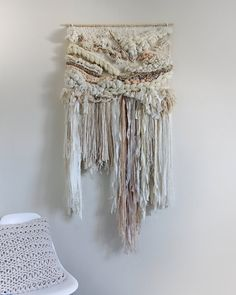 Rubor natural tejido colgante de pared tapiz por CrossingThreadsAUS